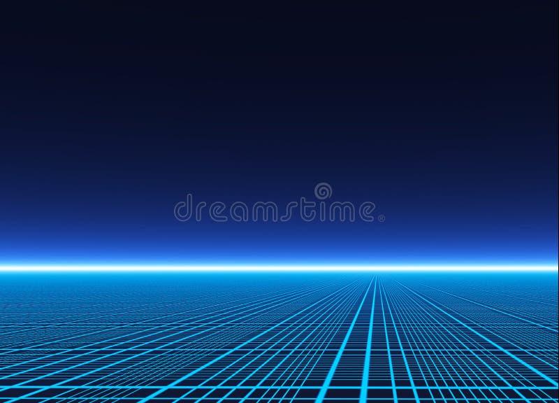 Neonowy siatki skutka tło royalty ilustracja
