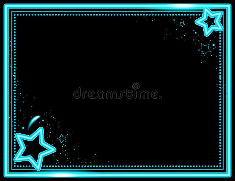 Neonowy Starburst tło ilustracja wektor