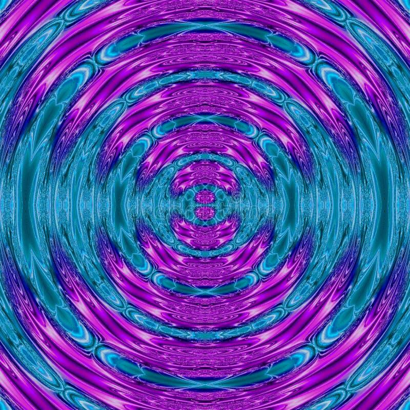 Neonowy wiruje ilustrację z rozjarzoną kurendy ramą w błękitnej cyraneczce i ultrafioletowych skutek czochrach neonowi kolory cyr fotografia royalty free