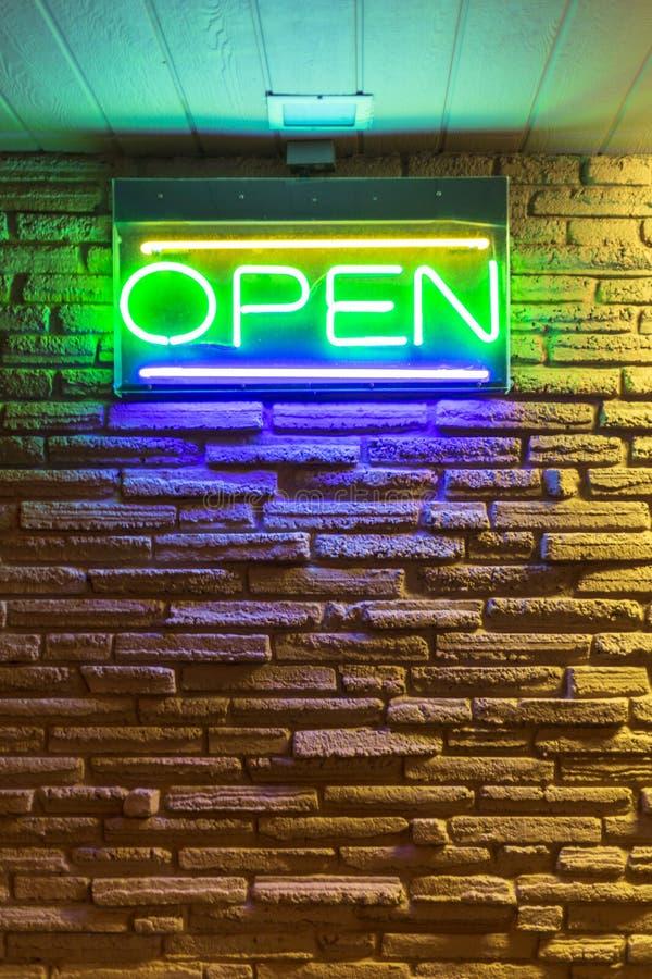 Neonowy znak, śródmieście, Las Vegas zdjęcia stock