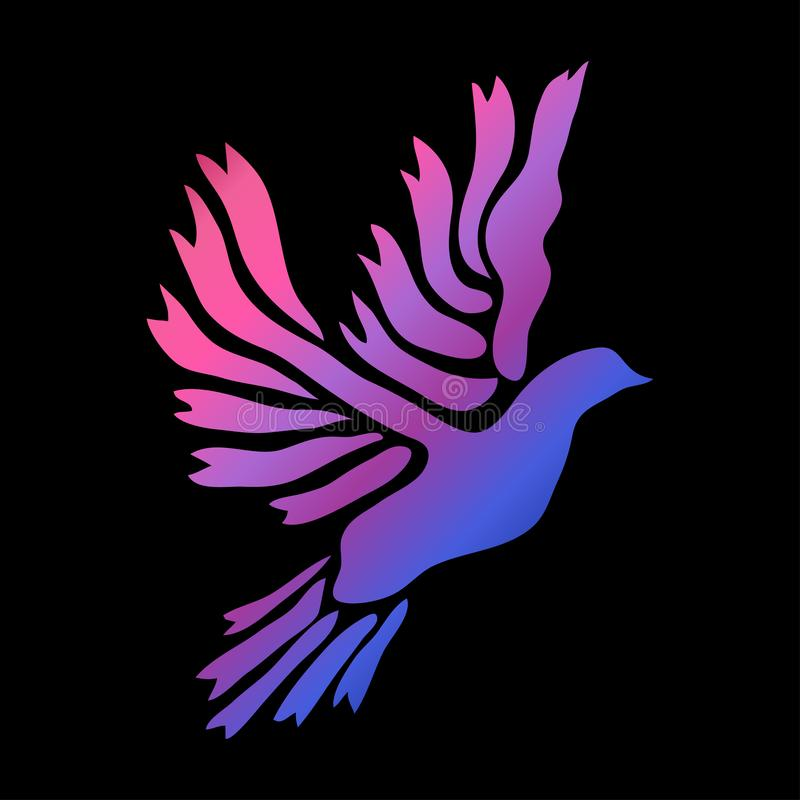 Neonowy zwierzęcy symbol ilustracja wektor