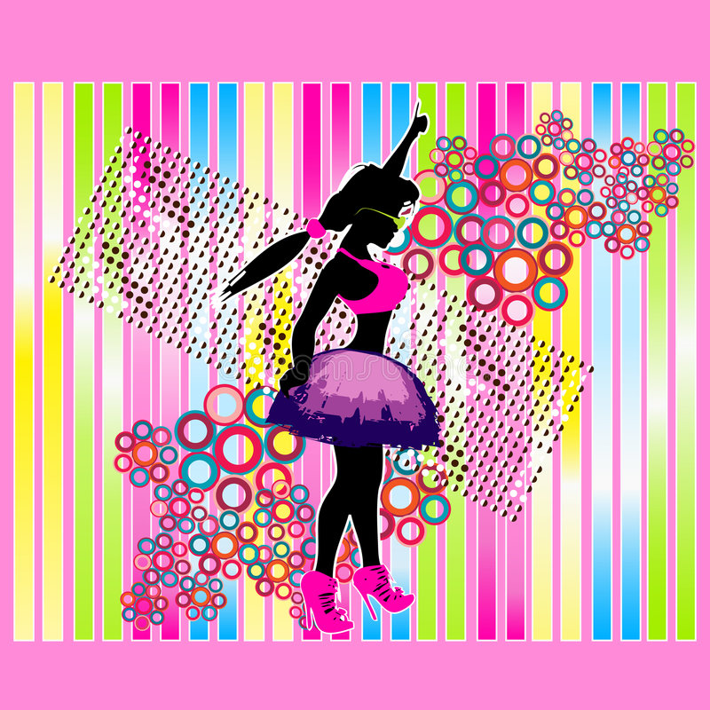 Neonparty-Hintergrund stock abbildung