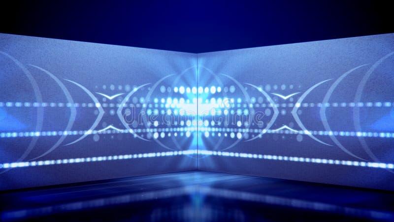 Neonröhrespiele von kaleidoskopischen Stellen lizenzfreie abbildung