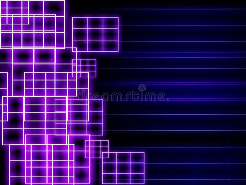 Neonrasterfeldhintergrund stock abbildung