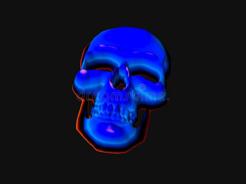 neonskalle stock illustrationer