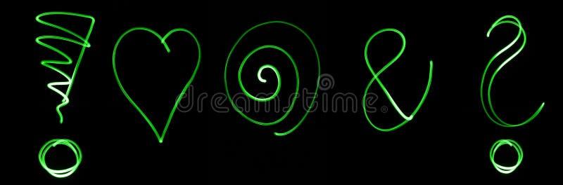 Neonsymbolen stock fotografie