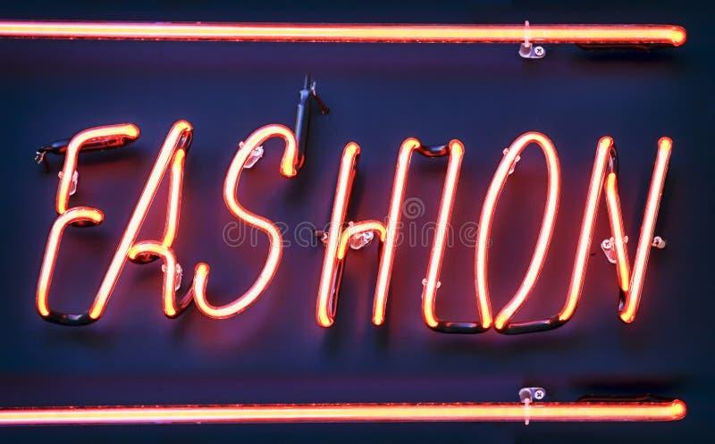 Neontecken för mode arkivbild