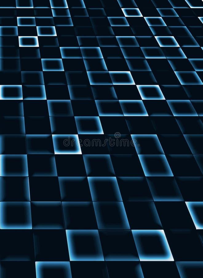 Neontegelplattabakgrund vektor illustrationer