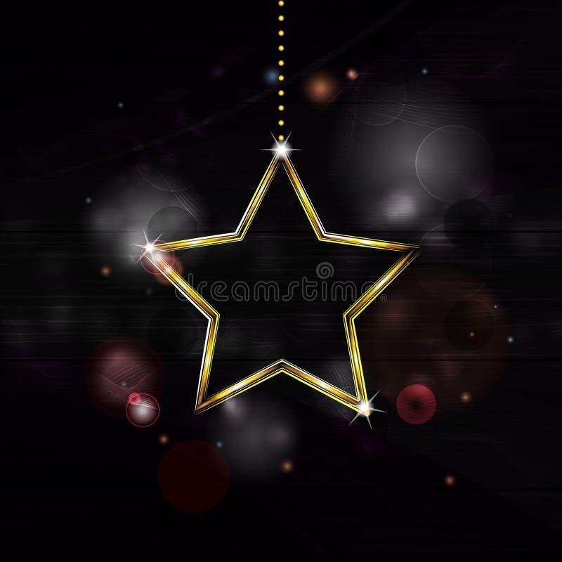 Neonweihnachtsstern-Dekoration bakground vektor abbildung