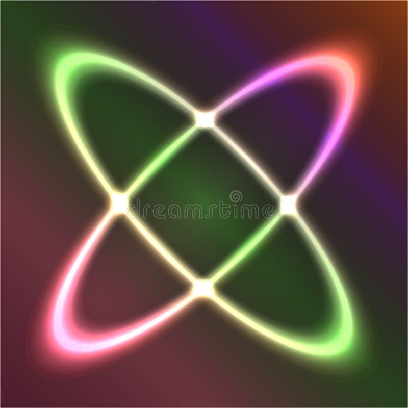 Neonzahl auf dunklem Hintergrund stock abbildung