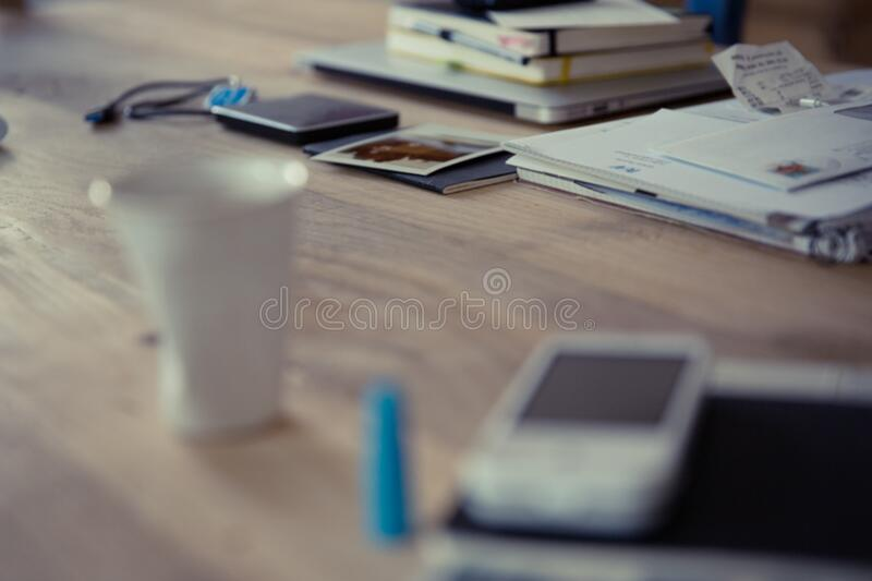 neourban hipster office desktop royalty free stock images