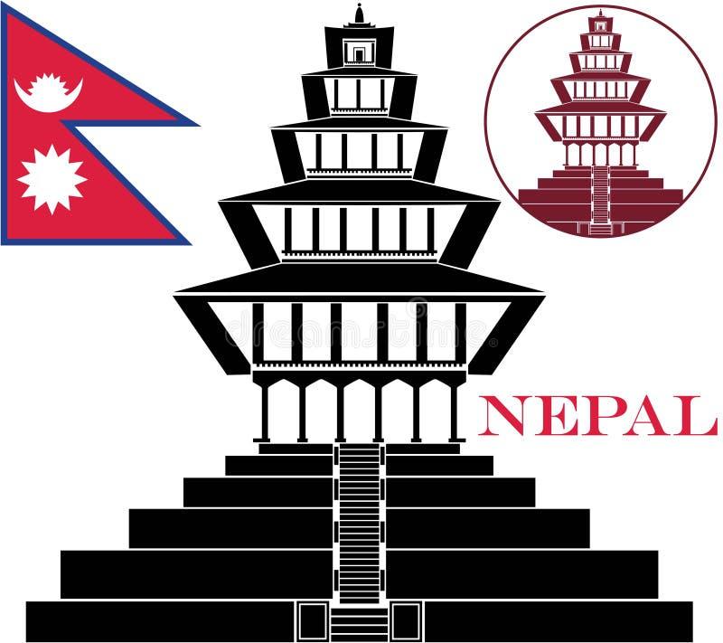 nepal stock de ilustración