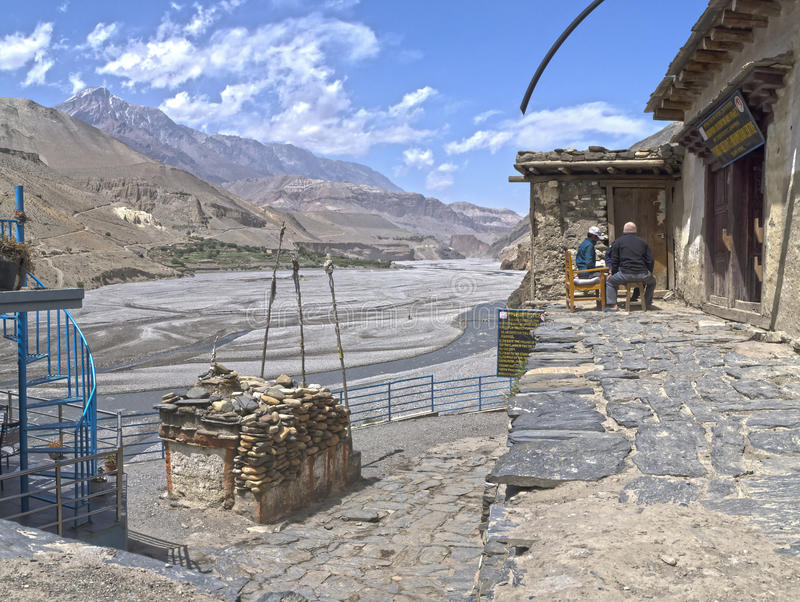 nepal Anapurna, Mustang lizenzfreies stockbild