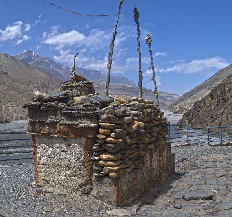 nepal Anapurna, Mustang stockfotografie