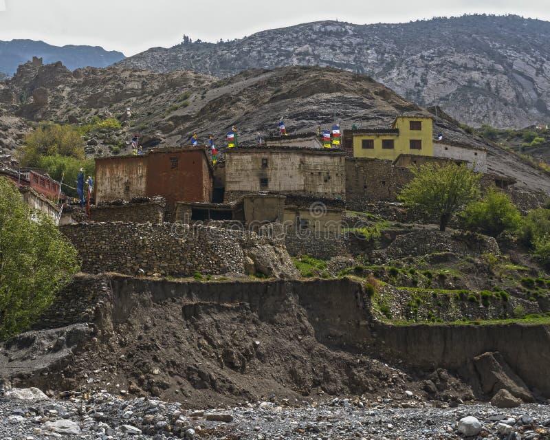 nepal Anapurna, Mustang stockfotos