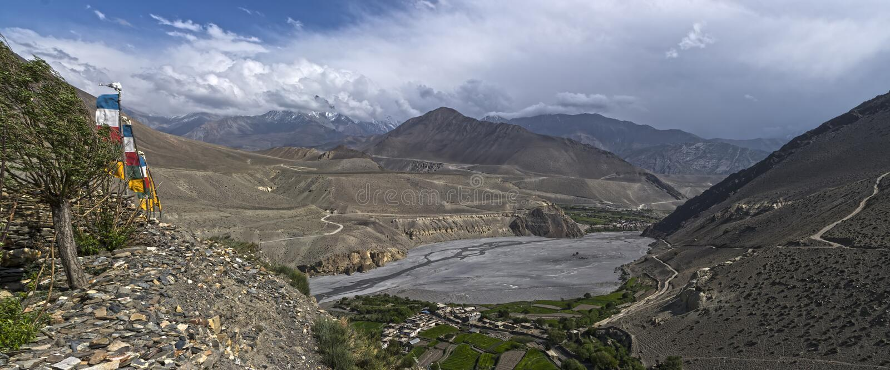 nepal Anapurna, Mustang lizenzfreie stockfotos