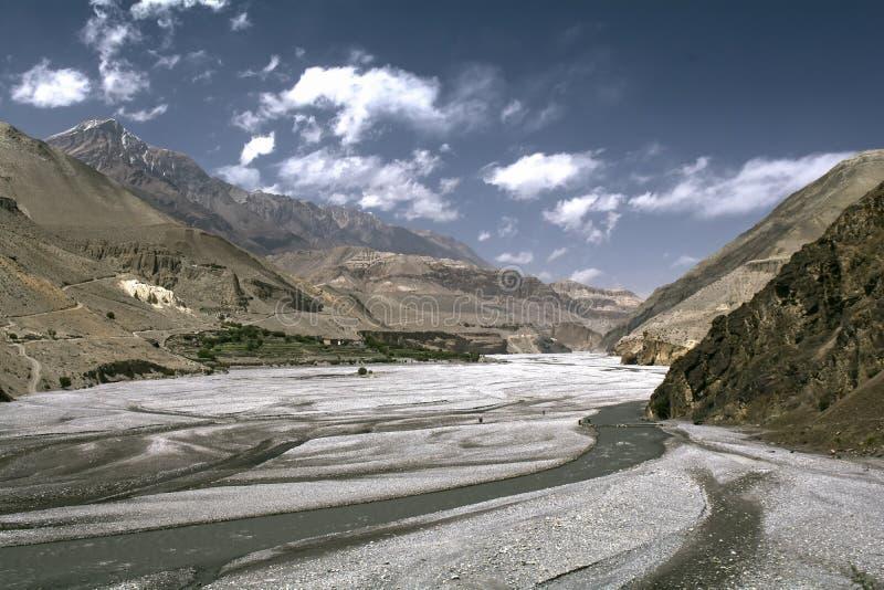 nepal Anapurna, Mustang lizenzfreie stockfotografie