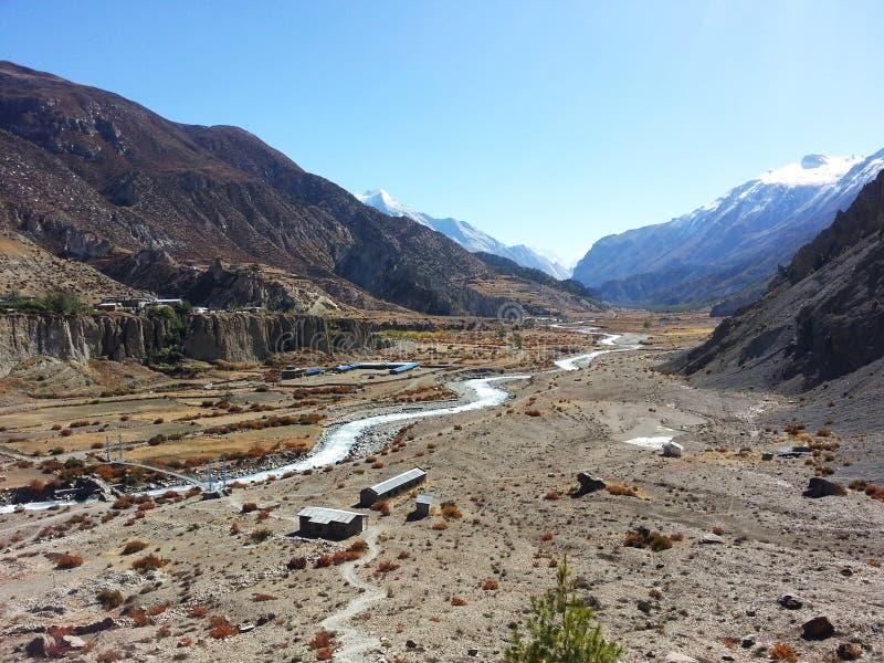 Nepal avlägset västra royaltyfria bilder