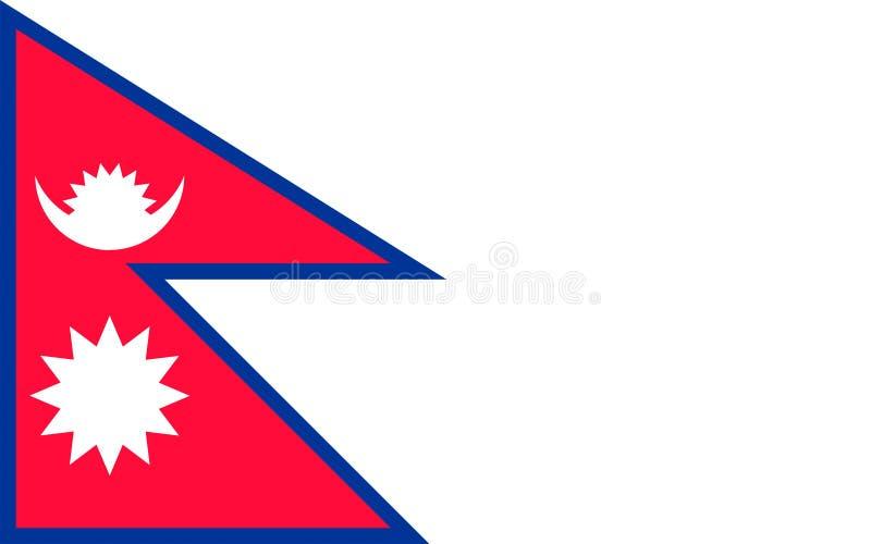 Nepal bandery ilustracji