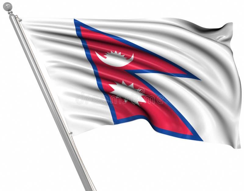 Nepal bandery ilustracja wektor