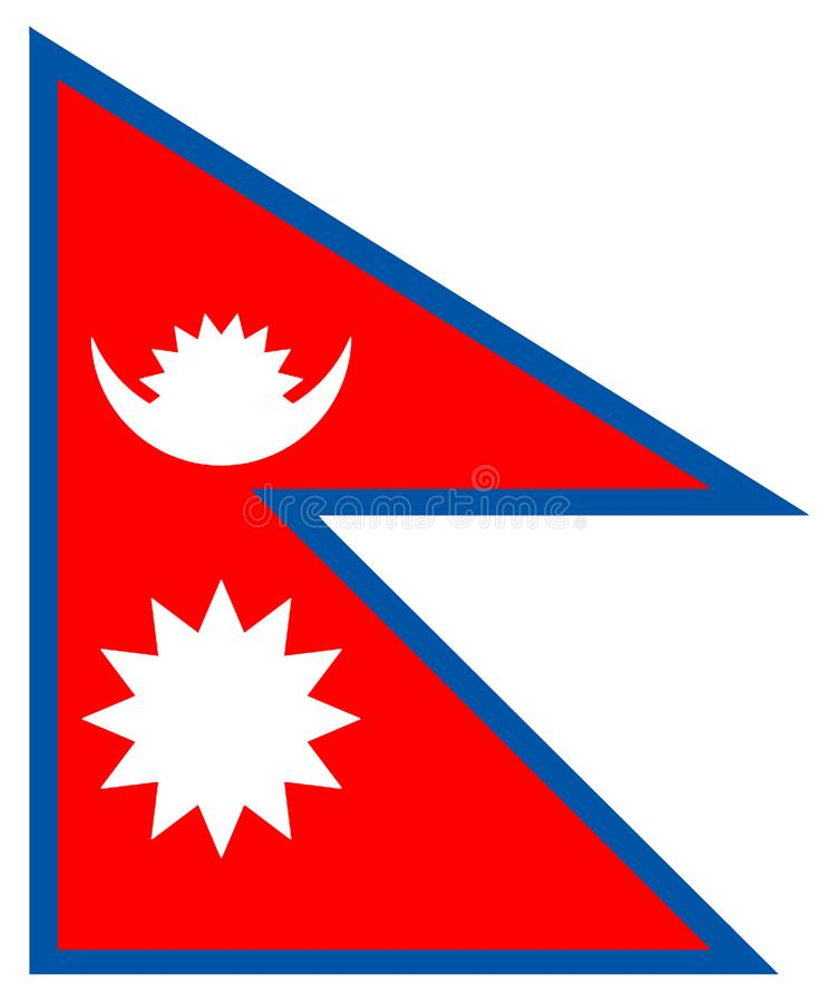 Nepal bandery Nepal flaga royalty ilustracja