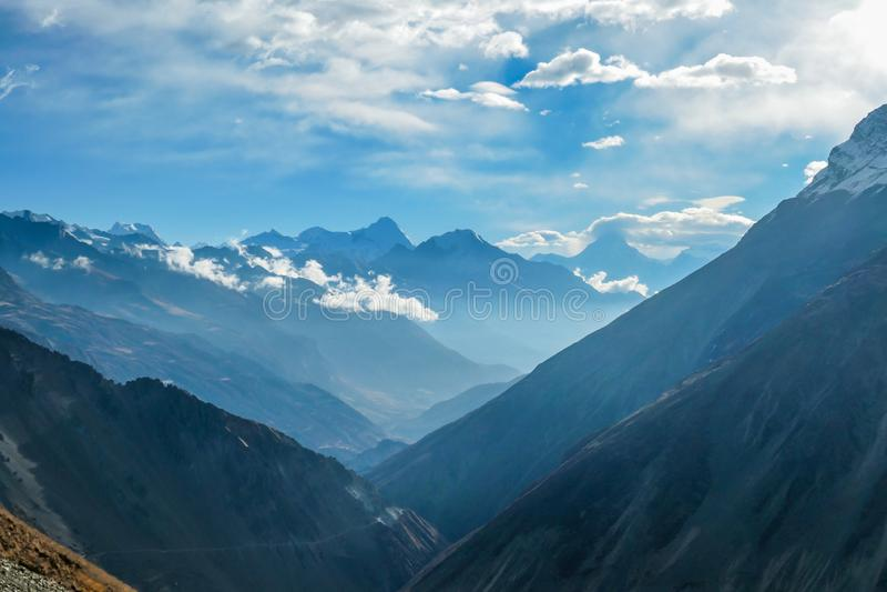 Nepal - Bergblick stockbilder