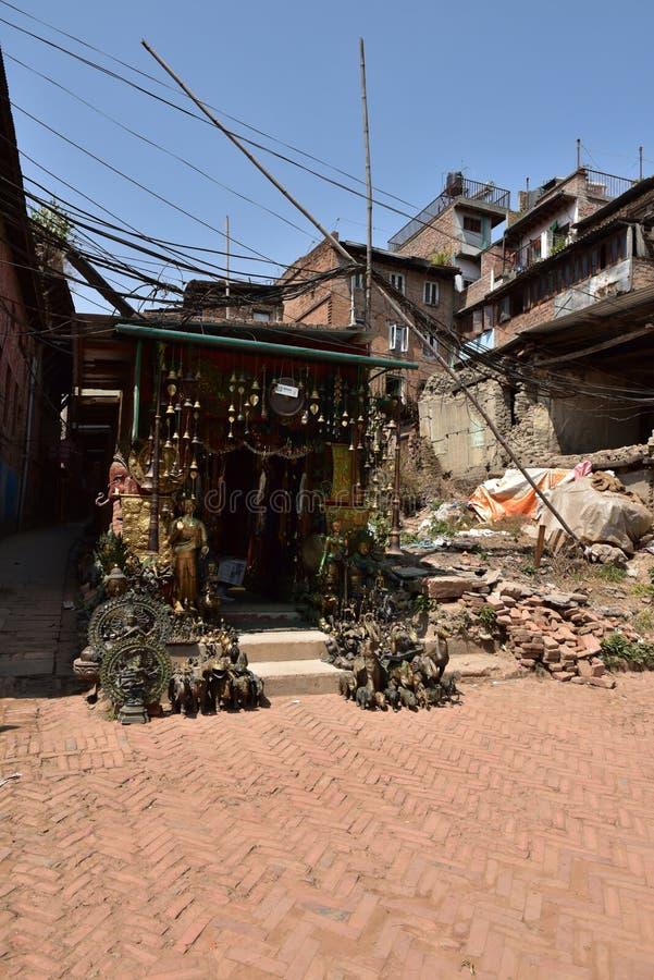 Nepal Bhaktapur fördärvar efter jordskalvet royaltyfri bild