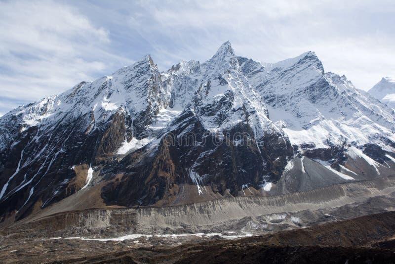 Nepal. De nabijheid van Manaslu van de berg. royalty-vrije stock foto's