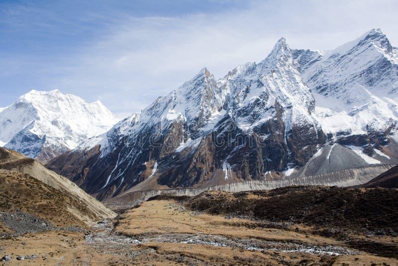 Nepal. De nabijheid van Manaslu van de berg. royalty-vrije stock afbeeldingen