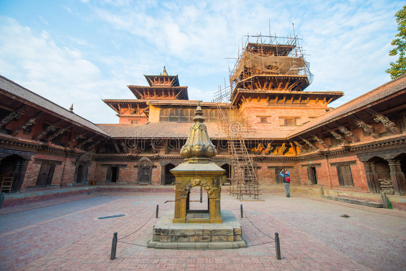Nepal - 23 December 2016 :: Patan Durbar Square - world heritage royalty free stock photography