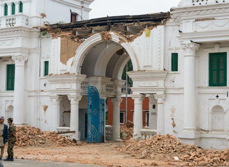 Nepal earthquake in Kathmandu stock image