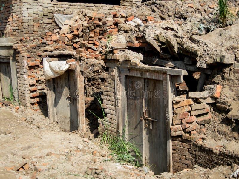 Nepal Earthquake Rubble royalty free stock photo