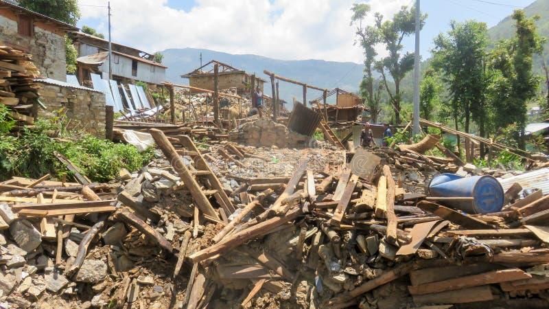 Nepal Earthquake royalty free stock photos