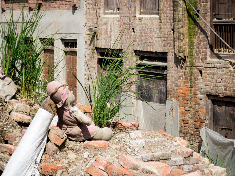 Nepal Earthquake Victim Memorial stock photos