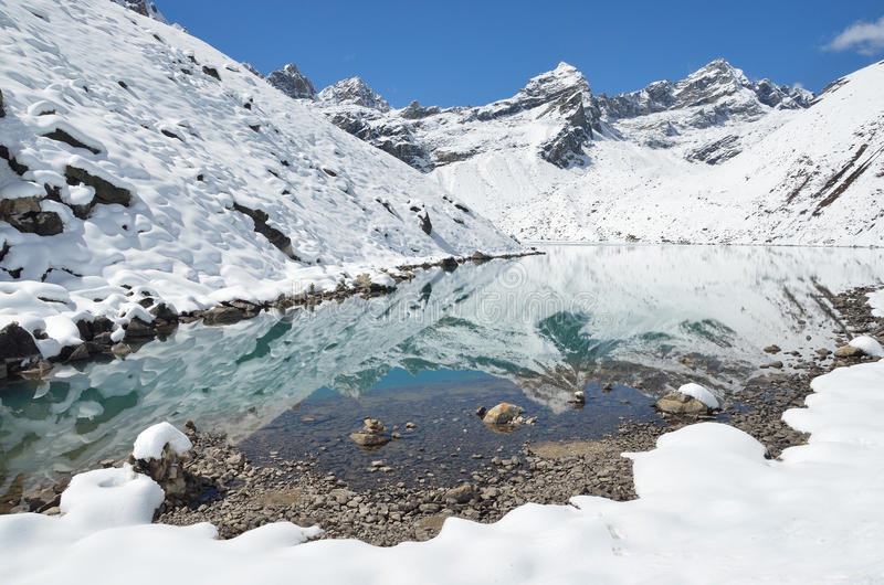 Download Nepal, El Himalaya, Lago Gokyo, 4700 Metros Sobre Nivel Del Mar Imagen de archivo - Imagen de casa, frío: 64205649