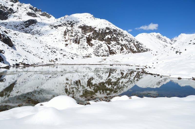 Download Nepal, El Himalaya, Lago Gokyo, 4700 Metros Sobre Nivel Del Mar Imagen de archivo - Imagen de invierno, alto: 64206071
