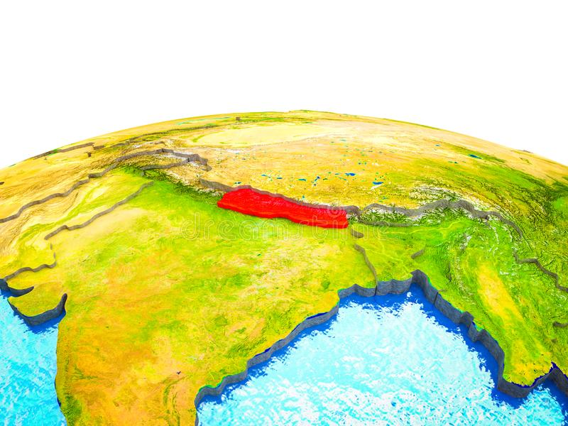 Nepal en la tierra 3D libre illustration
