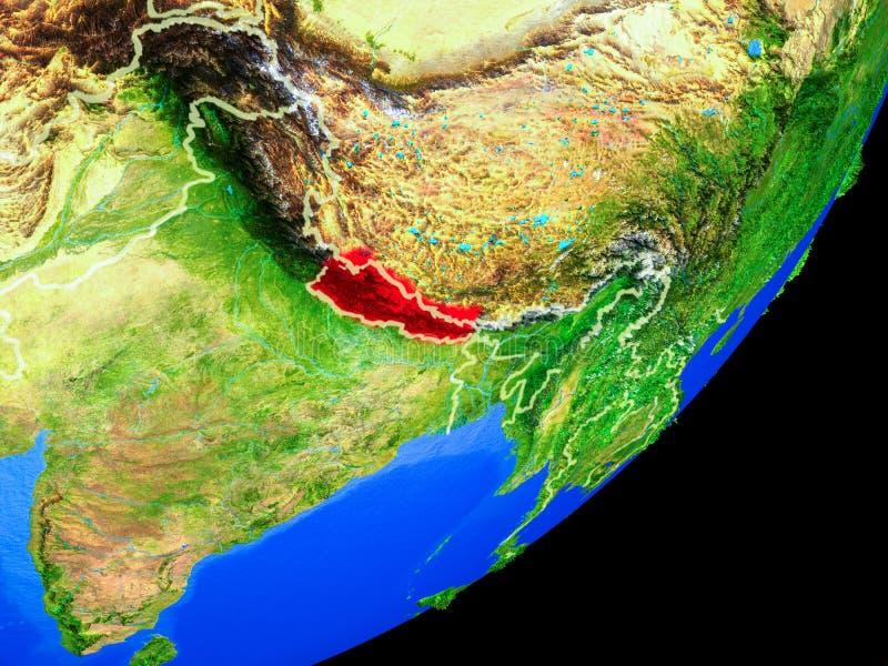 Nepal en la tierra del espacio libre illustration