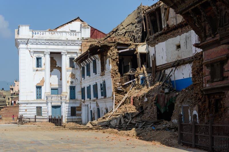Nepal-Erdbeben stockfotografie