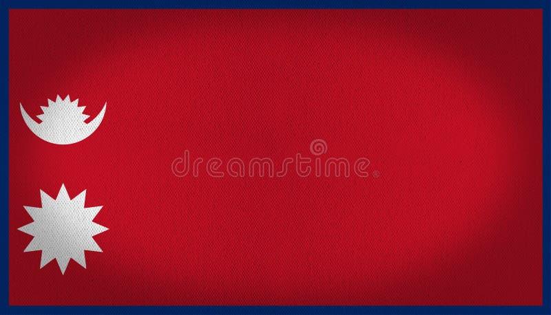 Nepal flaga ilustracja wektor