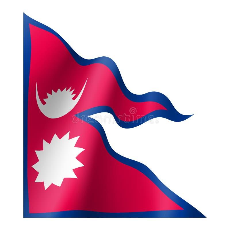Nepal flaga, wektorowy mieszkanie styl ilustracji