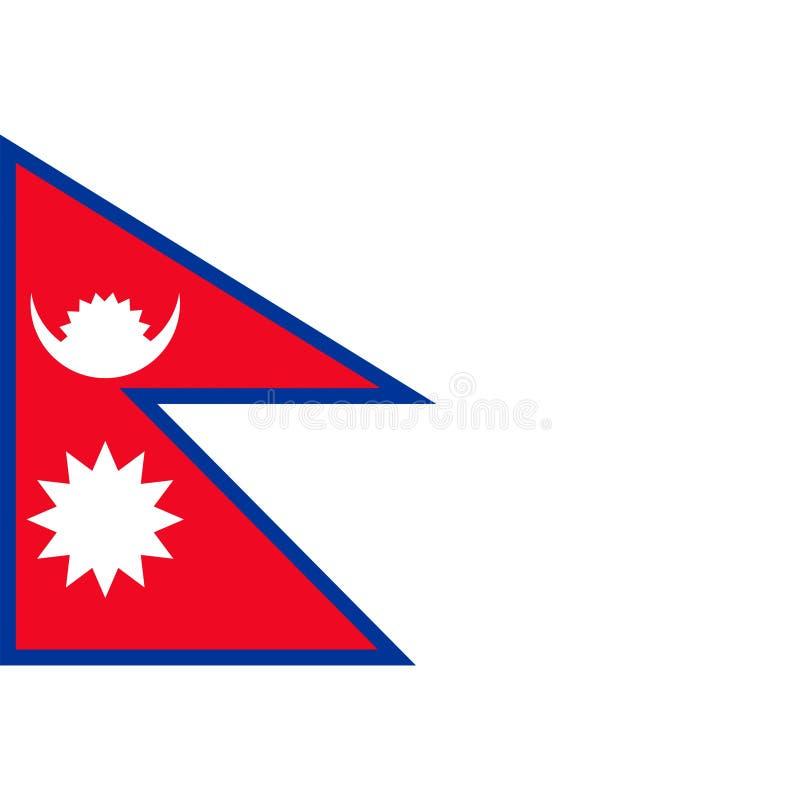 Nepal flagi wektor odizolowywający ilustracja wektor