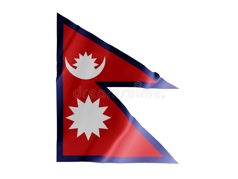 Nepal fluttering vector illustration