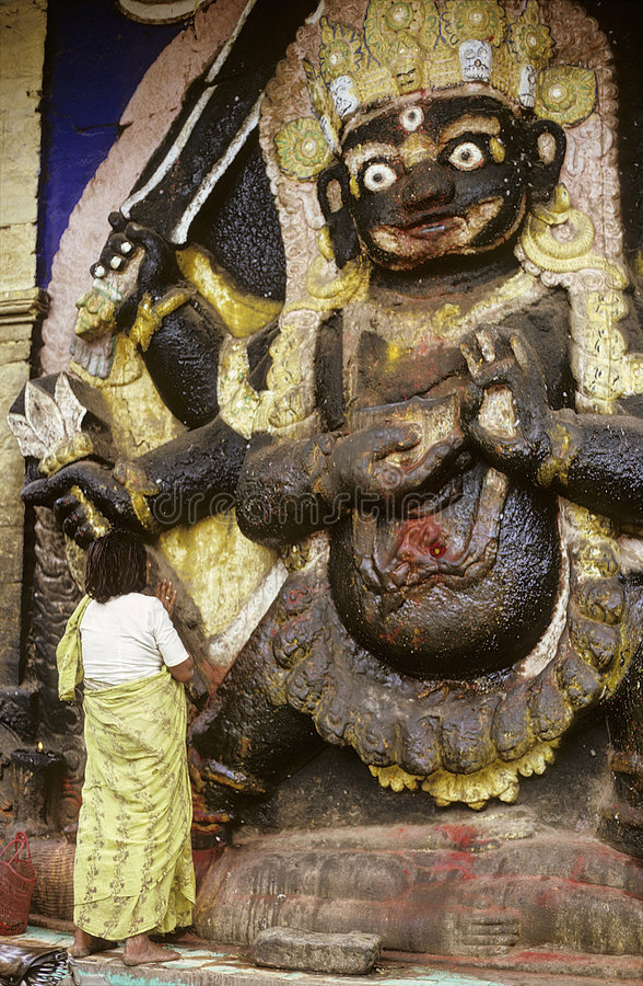 Nepal-Göttin stockfotos