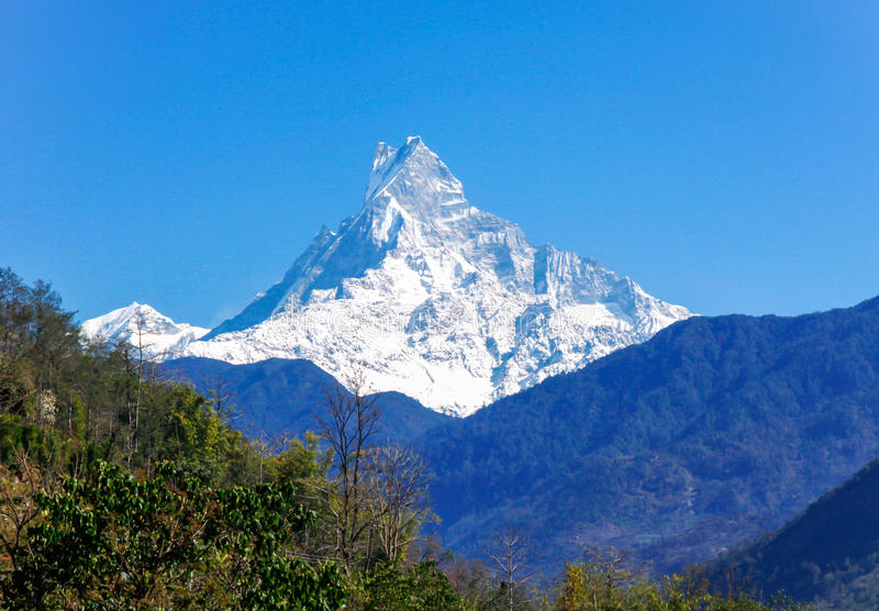 Nepal Himalaya arkivfoton
