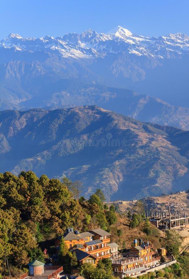 Nepal Himalaya royaltyfria foton
