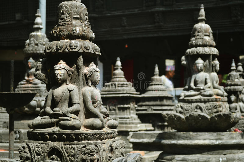 Nepal Hinduism Buddha stone temple royalty free stock photography