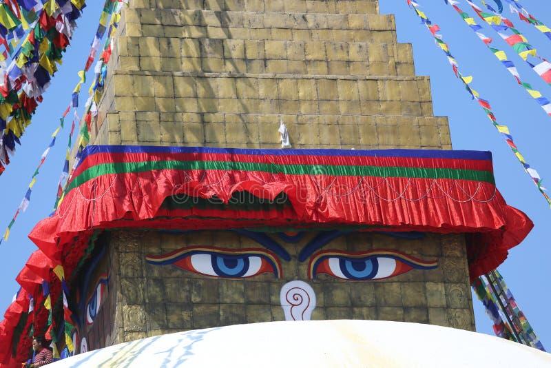 Nepal Katmandu Boudha Stupa royaltyfri bild