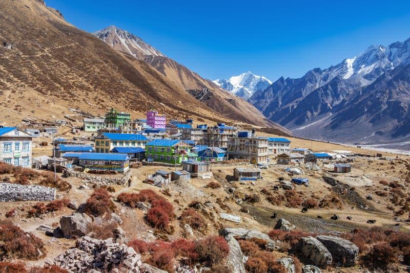 Nepal langtang dolina Kyanjin obraz royalty free