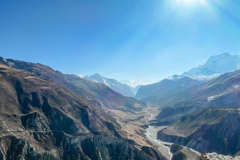 Nepal - Manang-Vallei royalty-vrije stock fotografie